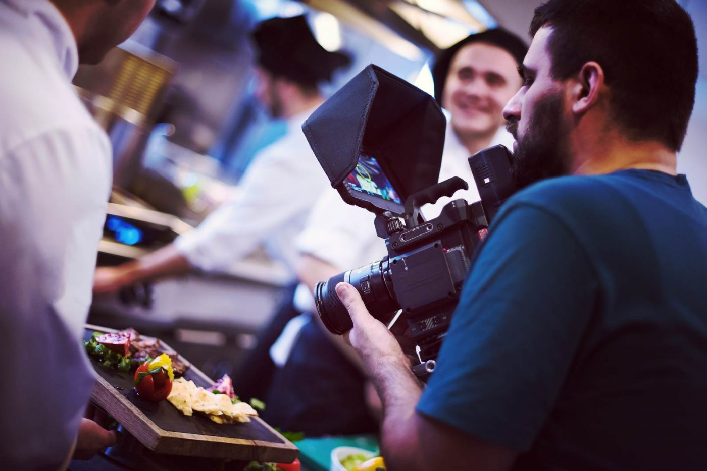 commercial videography team shoots video in West Palm Beach Beach Beach